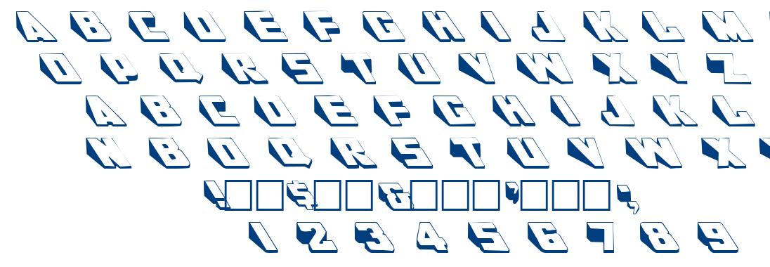 Wedgie font