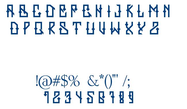 ZERB font