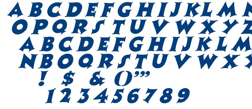 Zaleski font