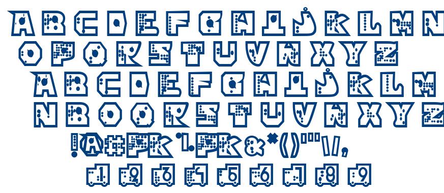 Mekano font