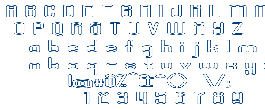 Aposiopesis Dwarfed Stroke font