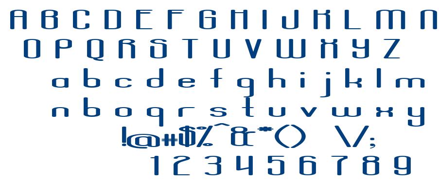 Aposiopesis Dwarfed font