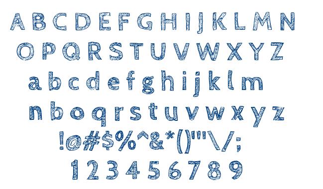 Cabin Sketch font