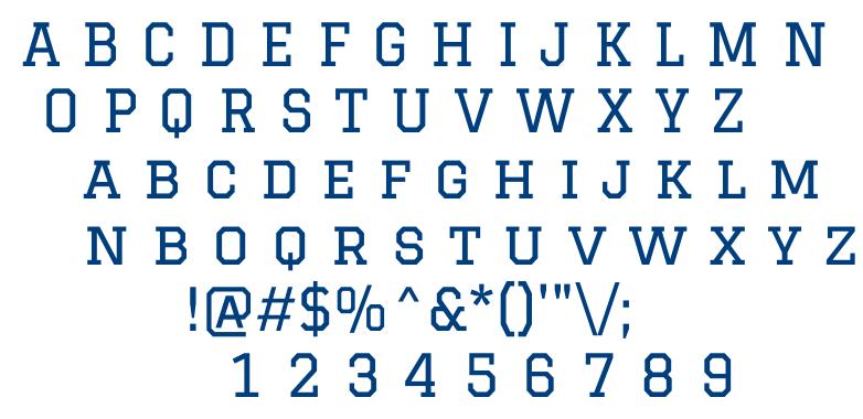 Graduate font
