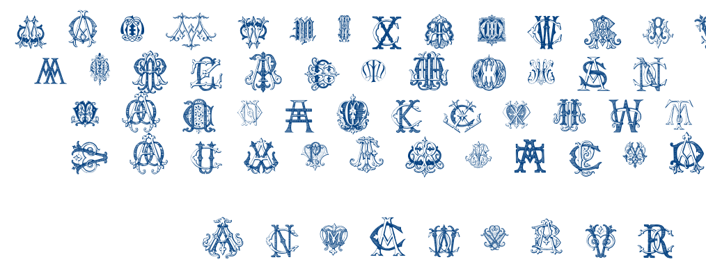 Intellecta Monograms Random Samples Five font