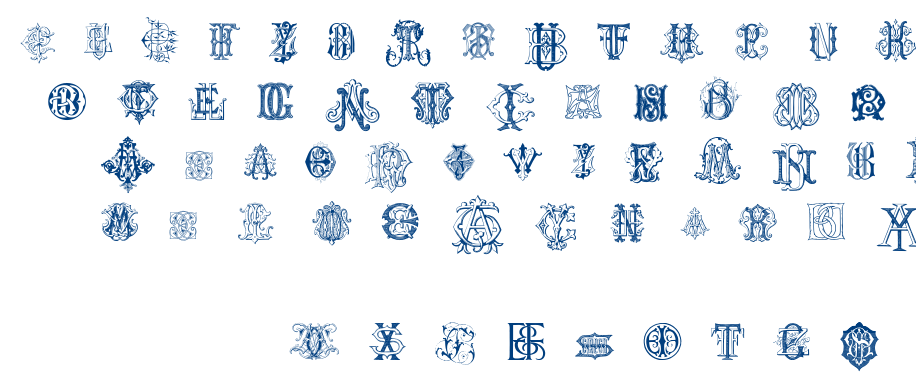 Intellecta Monograms Random Samples font
