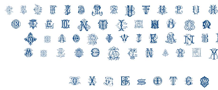 Intellecta Monograms Random Samples font