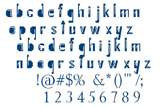Internal Fratture font