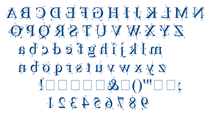 Kingthings Backwards font