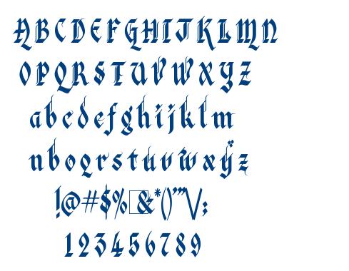 Kingthings Italique font