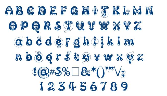 Kingthings Slipperylip font