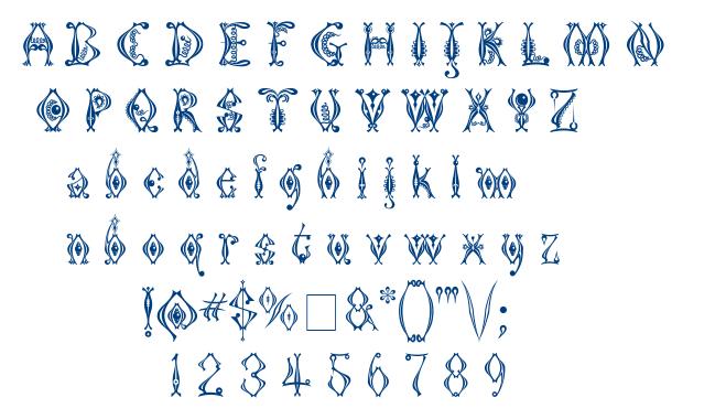 Kingthings Tendrylle font