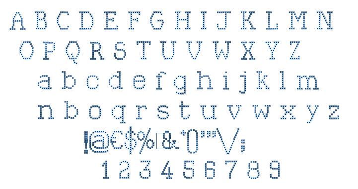 Kingthings Xstitch font