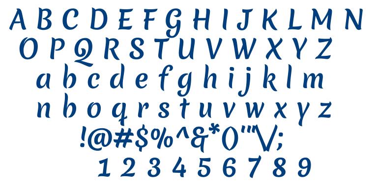 Merienda font
