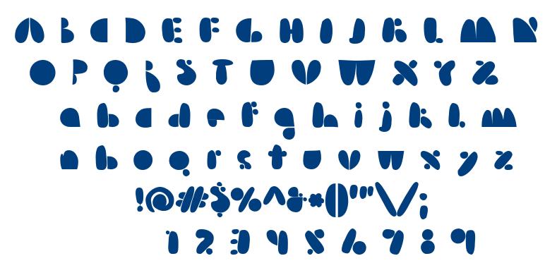 Arsenale Blue font