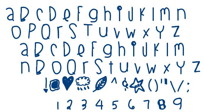 Blackberry Blues Thick font