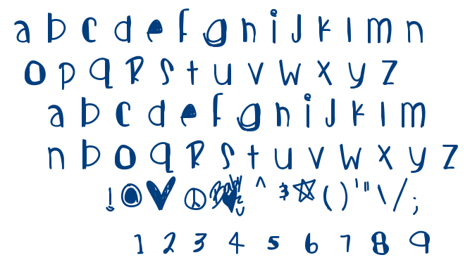 Candy cutes font