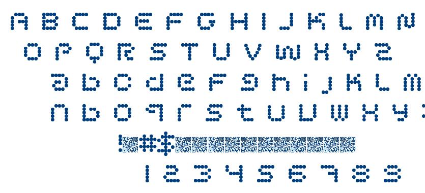 Circle Pixels font
