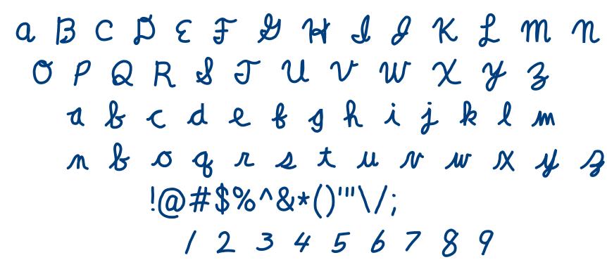 Clara Lee Cursive font