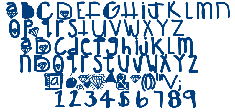 Diamond girl font