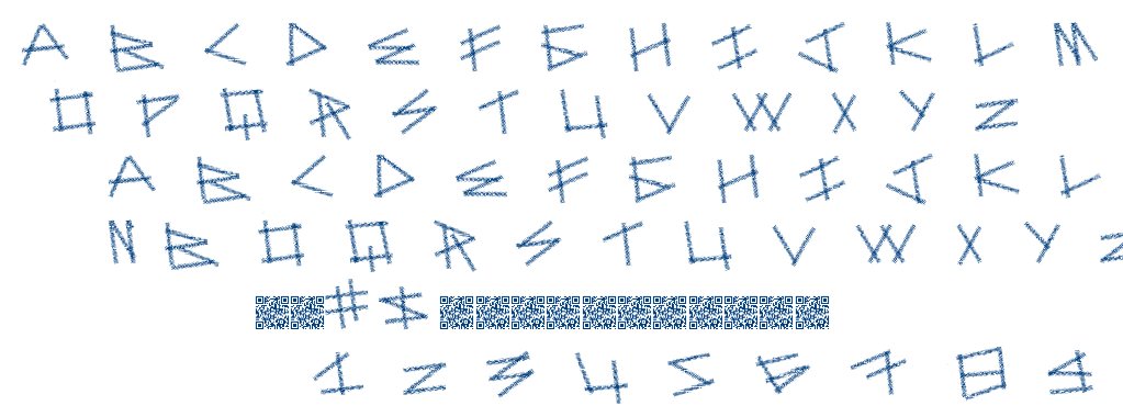 Dot Sticks font