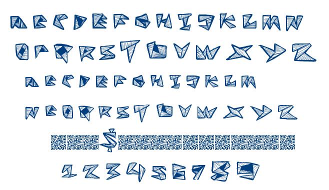 Fold Line font