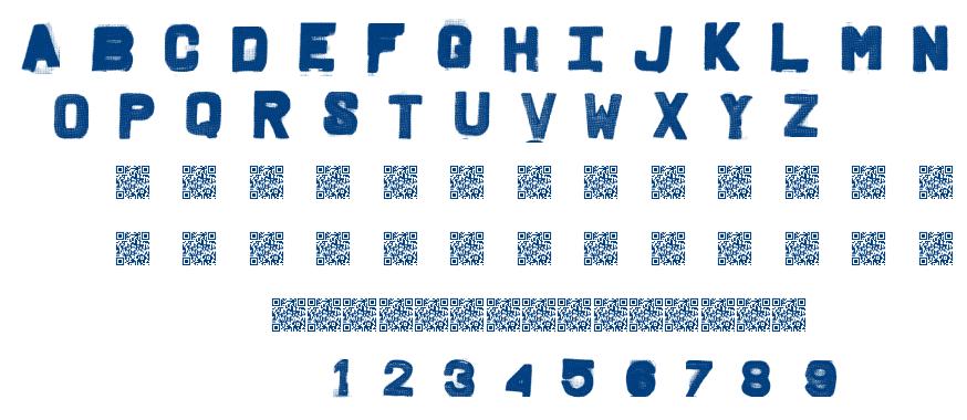 Fridge Letters font