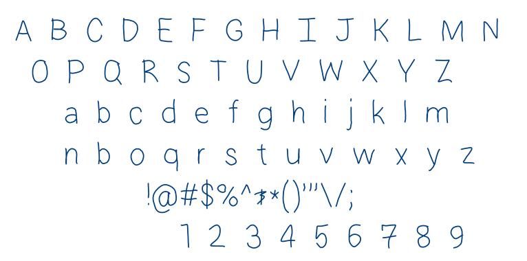HM Hamelton Hand font