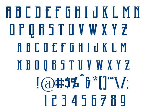 Harker font