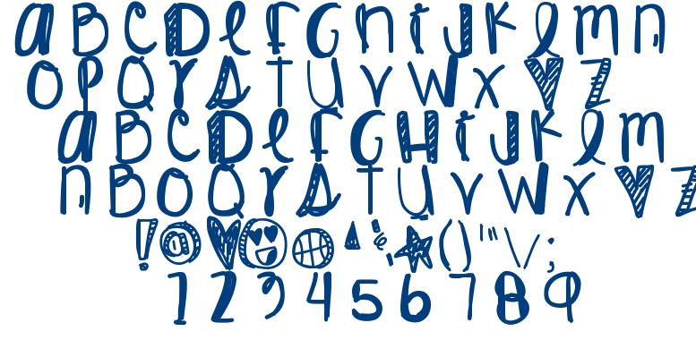 King James font
