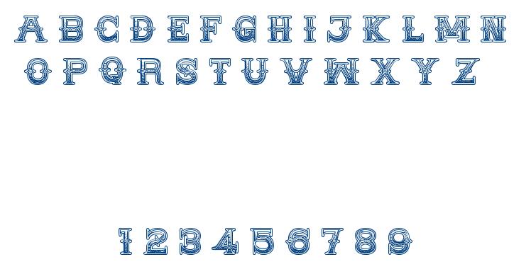 MEDICINE SHOW CAPS font