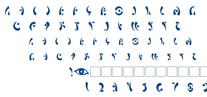 Maras Eye font