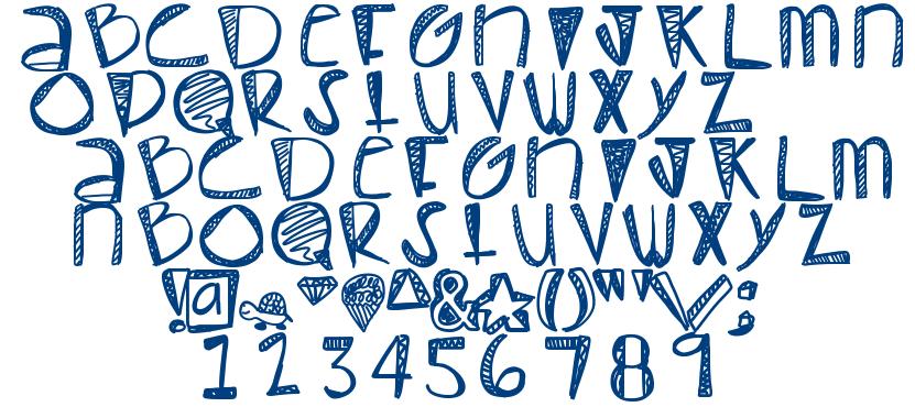 Pastel font