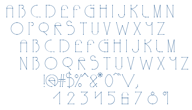 Polyline font