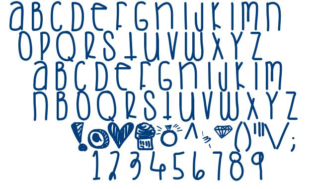 Saturday Love font