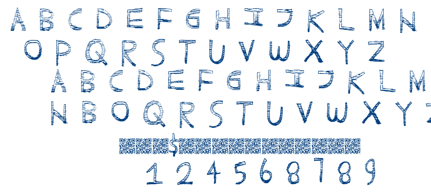 Scratchy Fun font
