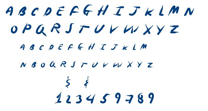 Spring Ninja font