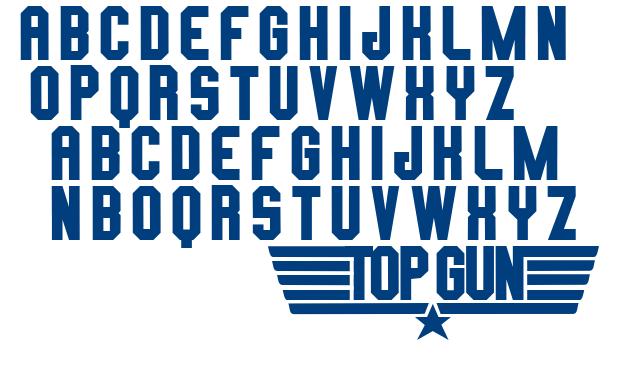 TOP GUN font