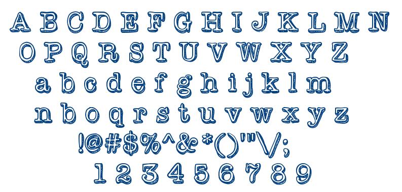 Vintage One font