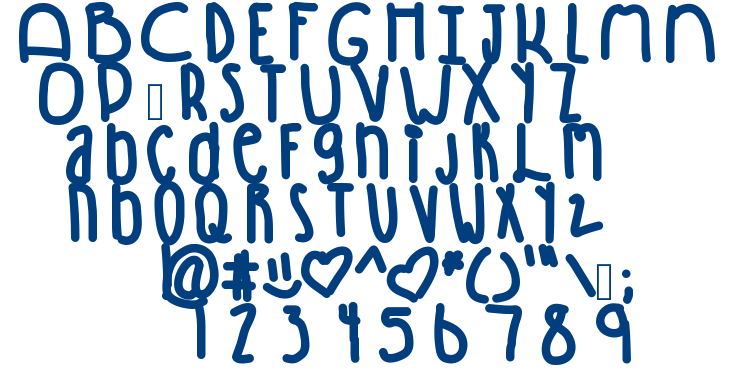 Winning font