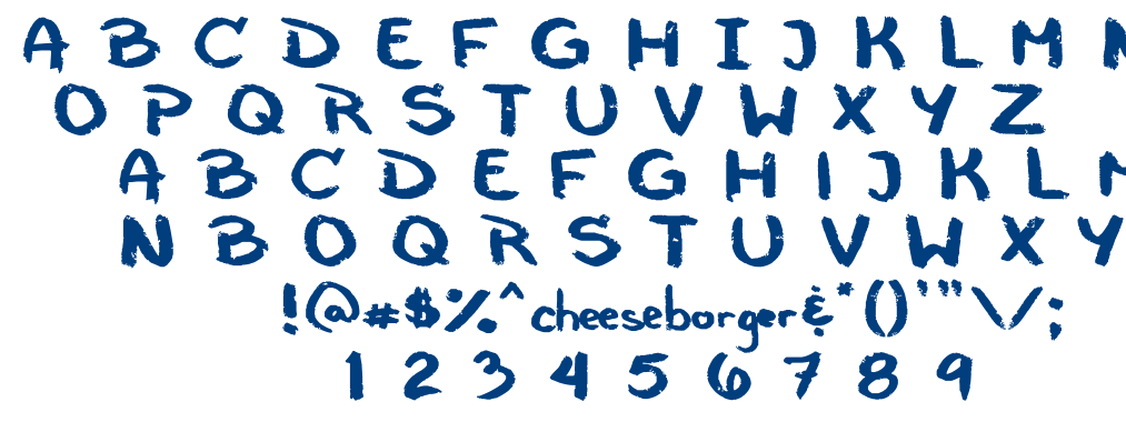 Cheeseborger font