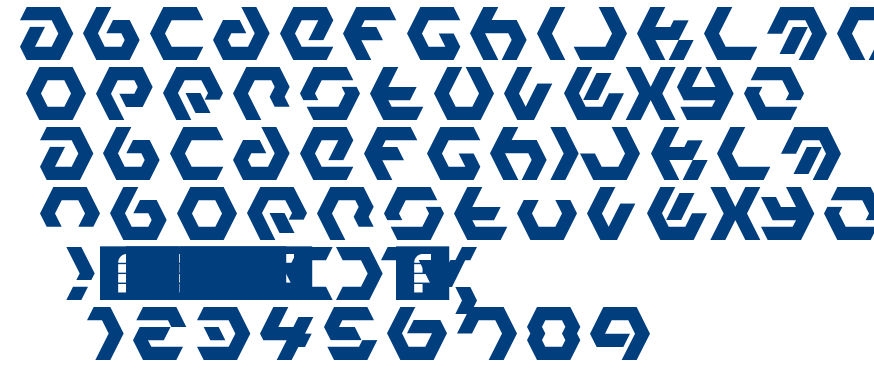 Hexample Ldr font
