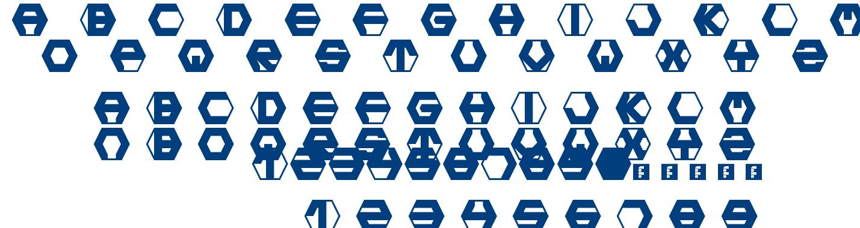 Hexotic Ldr font