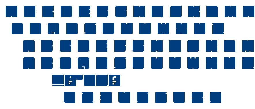 Kasual Bloks font