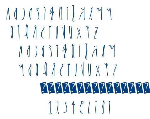 kcirF esreveR font