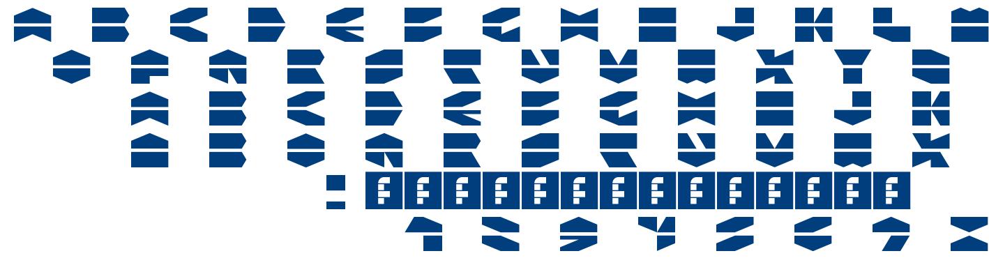 Ldr Hexatron font