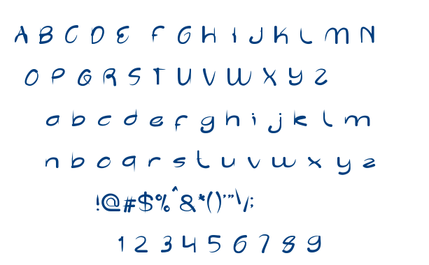 Reflection font