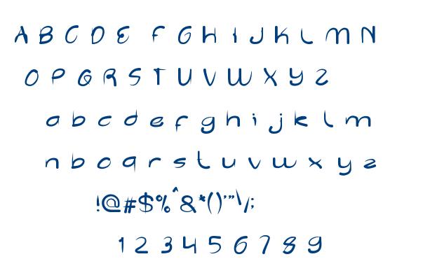Reflection font