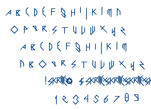 Scary Glyphs and Nice Characters font