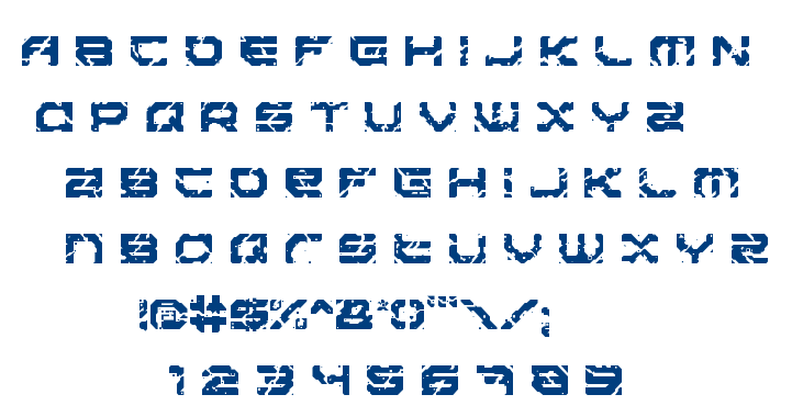 Sector 017 font
